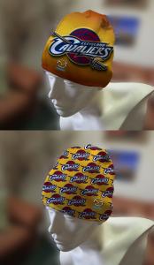 cuff beanie cap cuff decorated