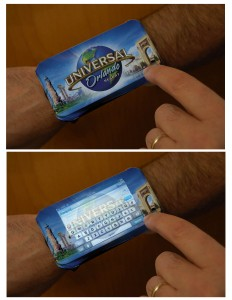 universal wrist touch band