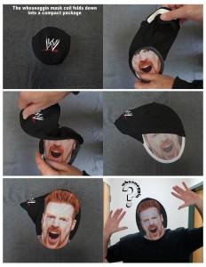 whosnoggin mask WWE