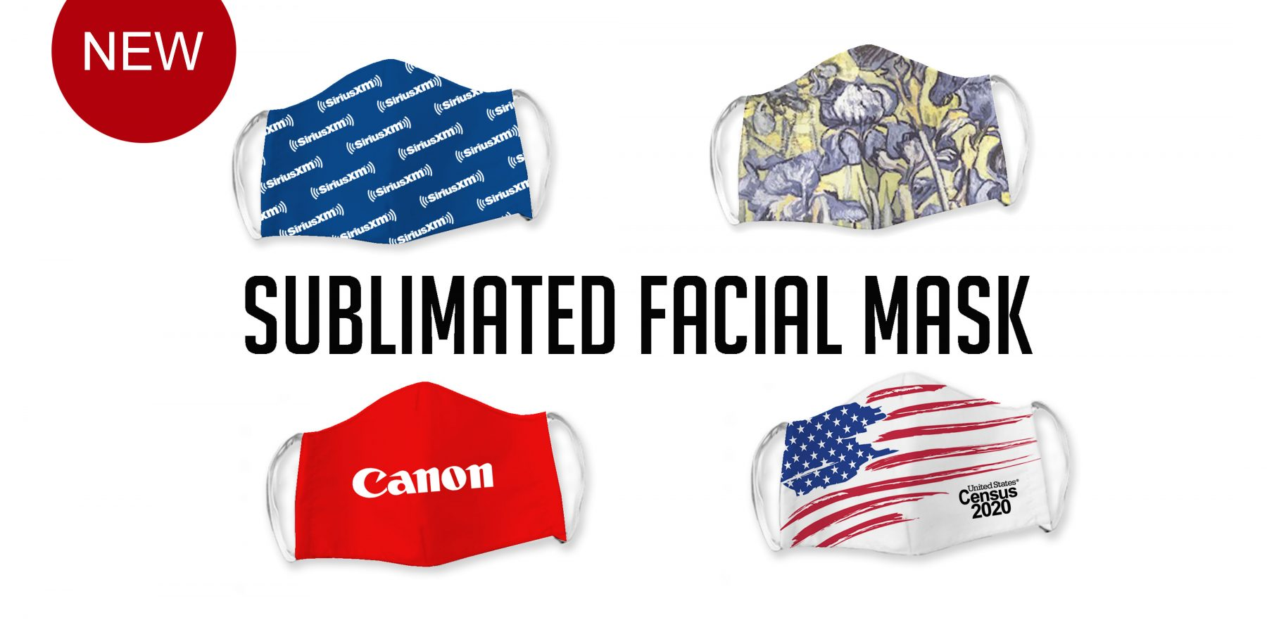 sublimated facial mask