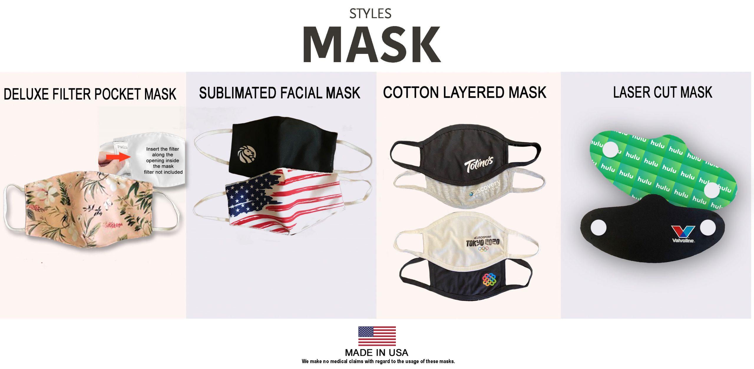 Sublimated mask