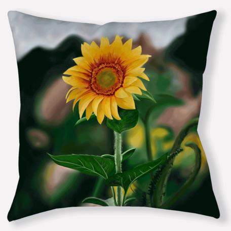 Pillow-sunflower