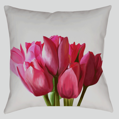 Pink Tulip Pillow